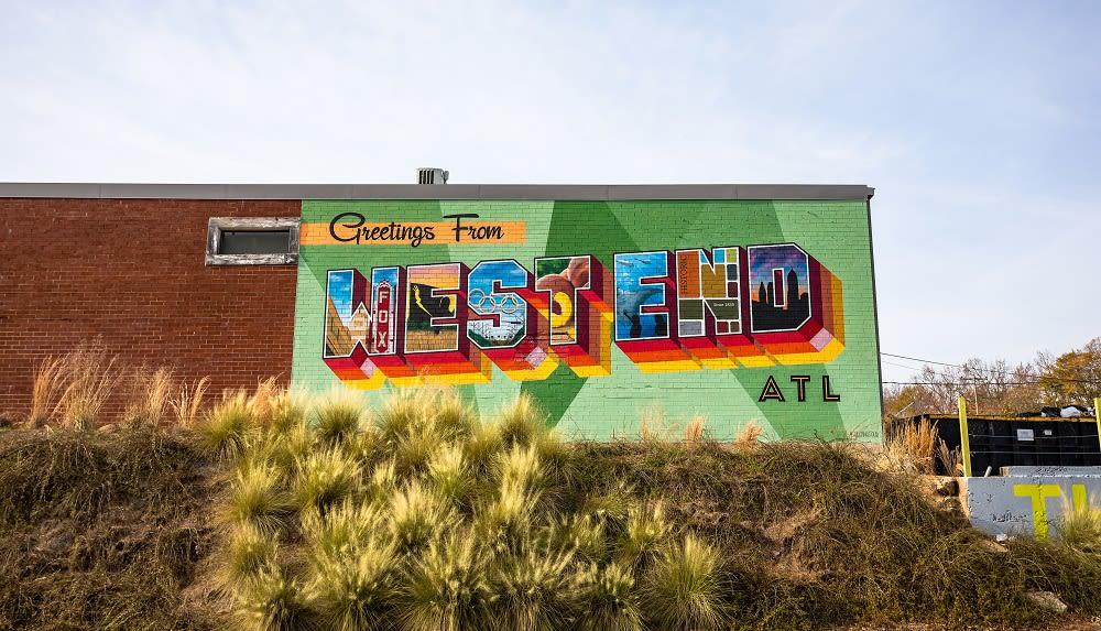 Atlanta BeltLine Murals - Greetings from the West End