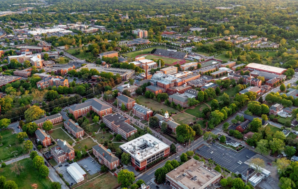 Aerial view of AUC in Southwest Atlanta.