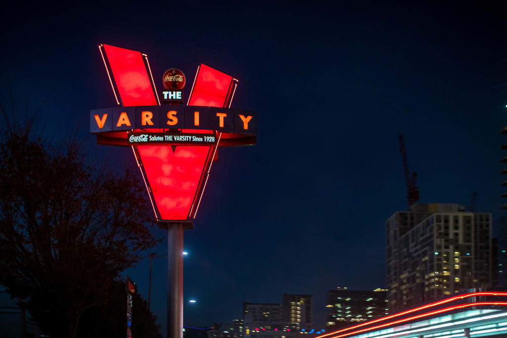 The Varsity is a famous spot found only in Atlanta