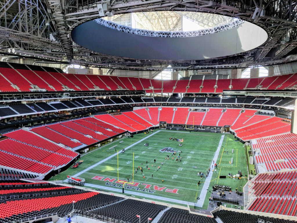 Mercedes-Benz stadium interior