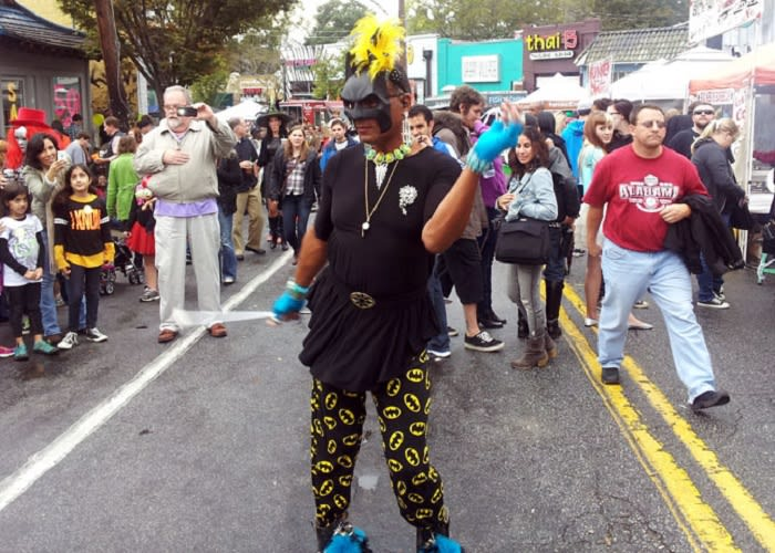 Baton Bob at Little Five Points Halloween Parade in Atlanta