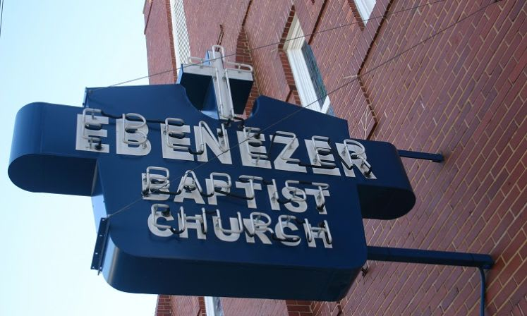 Historic Ebenezer Baptist Church Sign