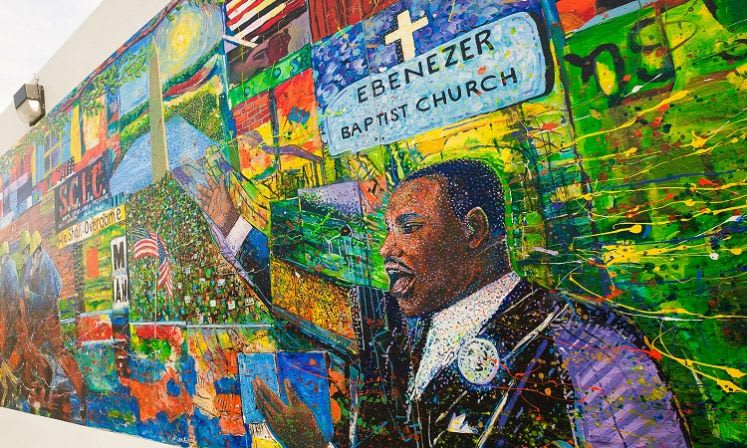 Dr. Martin Luther King, Jr. was a regular presence at the Ebenezer Baptist Church.