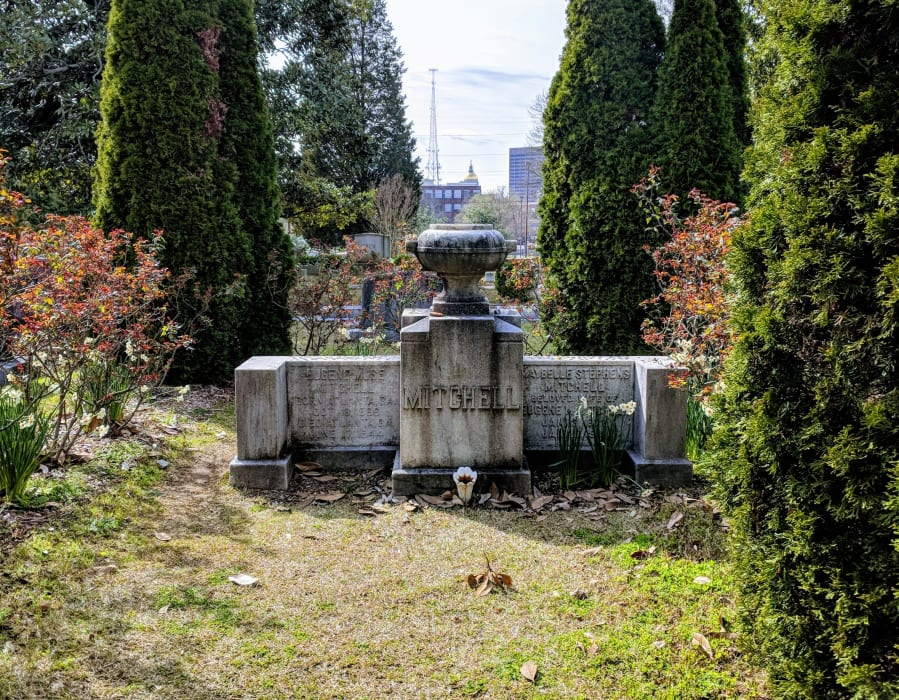 The final resting place of Margaret Mitchell in Atlanta's Historic Oakland Cemetery