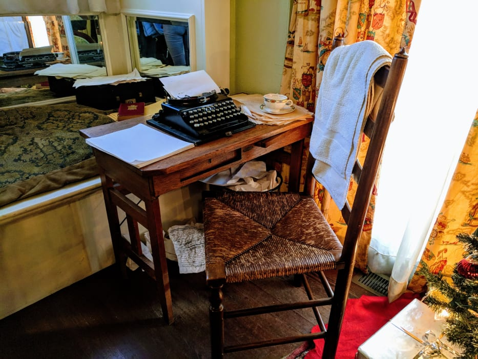 Margaret Mitchell's writing desk and typewriter at the Margaret Mitchell House