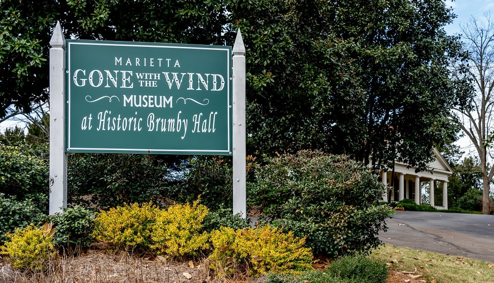 Gone With The Wind Museum at Historic Brumby Hall in Marietta, Georgia