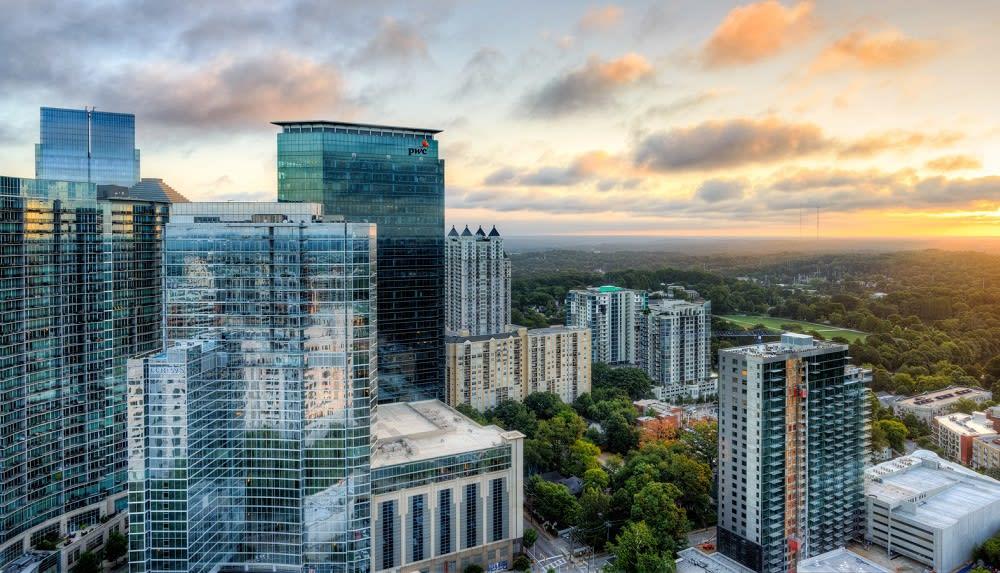 Atlanta Midtown Peachtree Sunrise