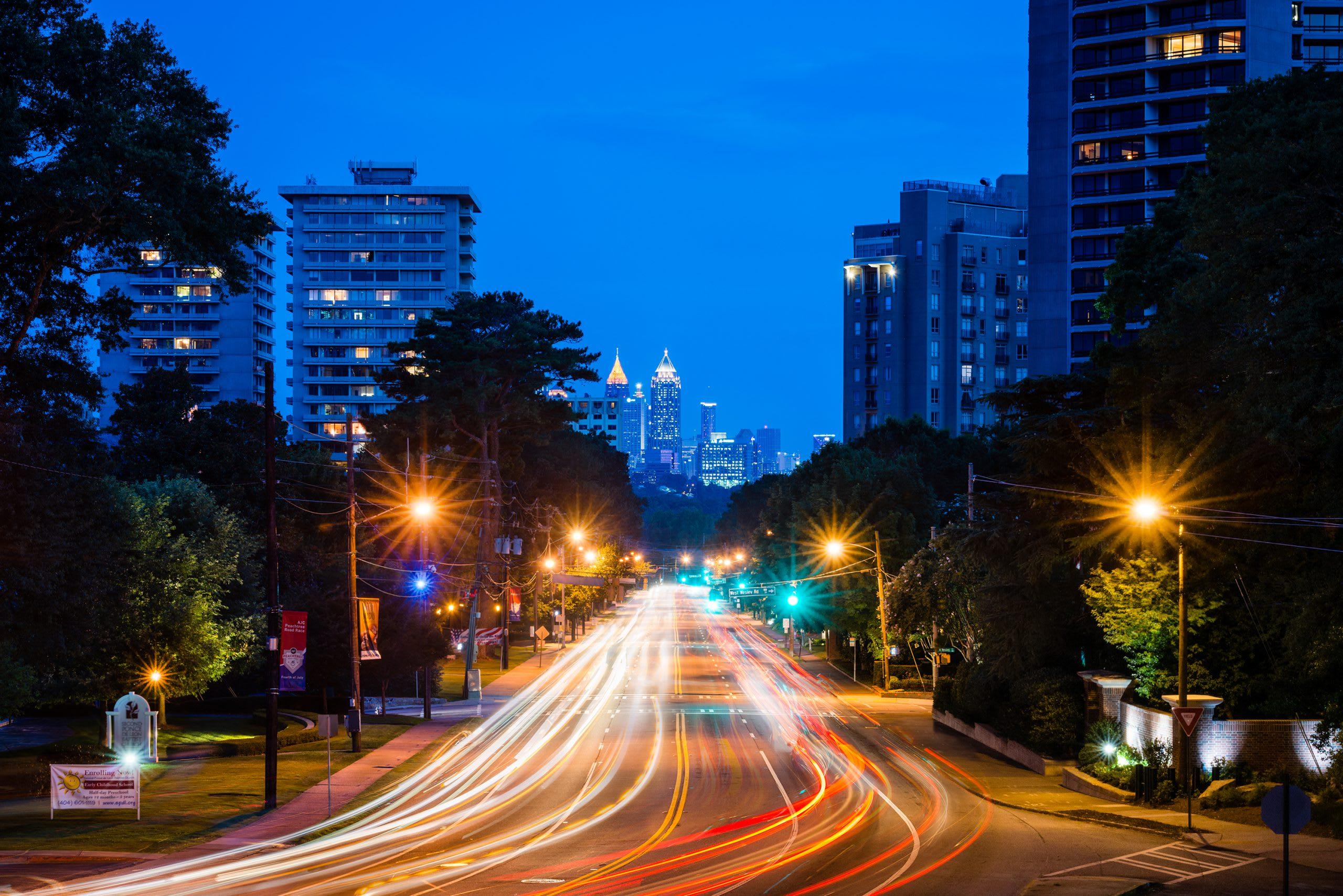 Atlanta Peachtree Street Skyline