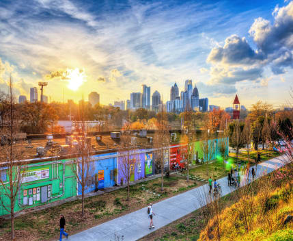 Atlanta Beltline Skyline