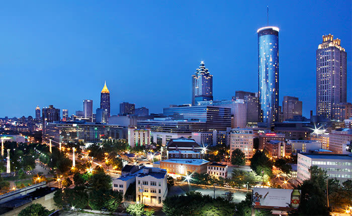 rooftop views from hotel bars in downtown atlanta