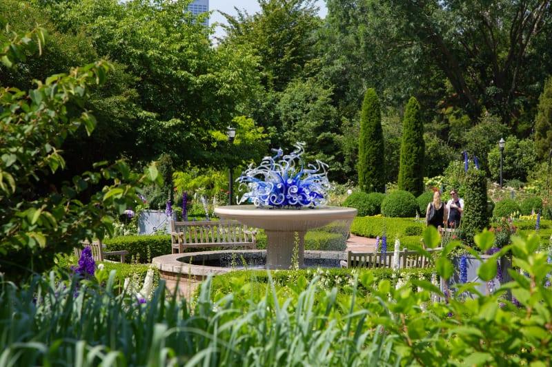 Atlanta Botanical Garden Chihuly sculpture
