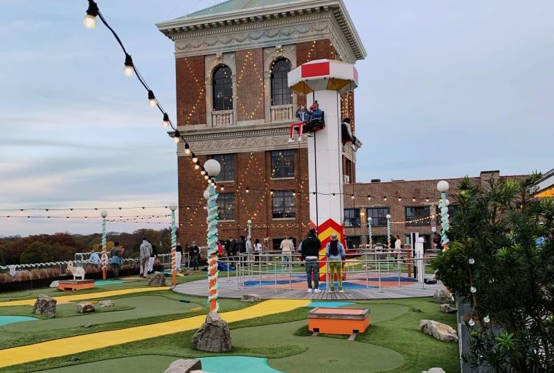 It's all fun and carnival games on The Roof at Ponce City Market.