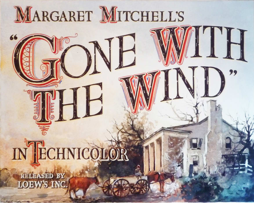 """Margaret Mitchell's """"Gone with the Wind"""" Movie Poster"""