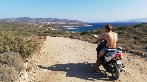 Adventure in the Cyclades islands (Greece)