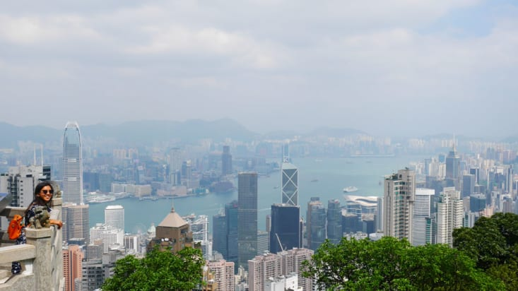 View from the Lion Pavillion on the Peak