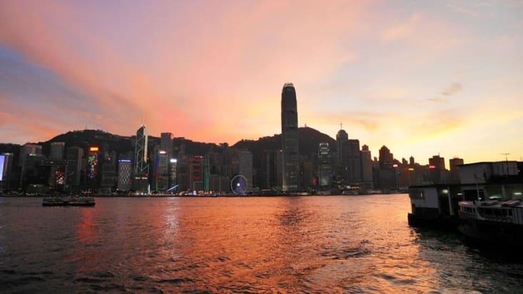Sunset at Tsim Sha Tsui