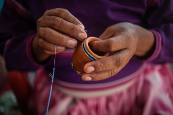 A photo of an artisan from the Human Connections' tour