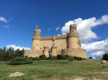 Beautiful skies around the Manzanares el Real Castle