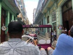 Old city tour in classic antique car