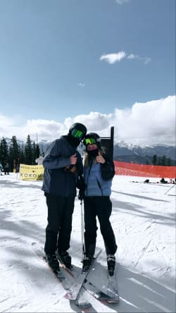 My brother and his girlfriend at the top of the mountain!