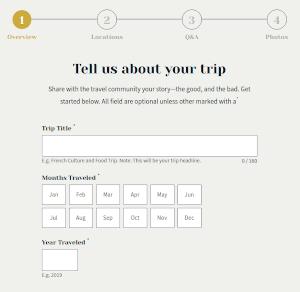 Create a trip report