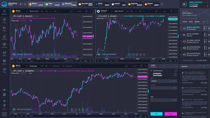 CryptoView Free Portfolio Tracking