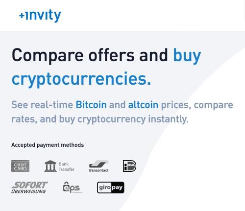 Invity buy crypto with card