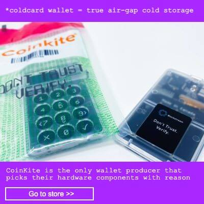 Coldcard cold wallet by Coinkite
