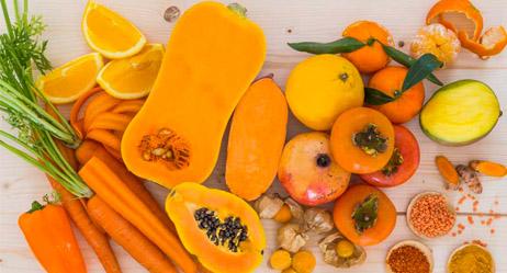 Orange & Yellow fruits and veggies