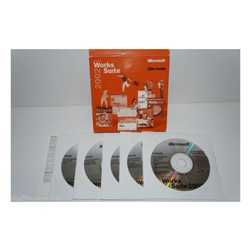 Microsoft Works Suite 2002 CDs For Dell Computer