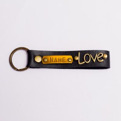 Customized Black Keychain