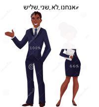 #אנחנו_לא_שני_שליש שכר שווה לנשים וגברים!