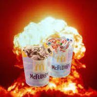 שינוי שם המוצר העברי של גלידת McFlurry (גלידה פיצוץ) של רשת המזון מקדונלדס