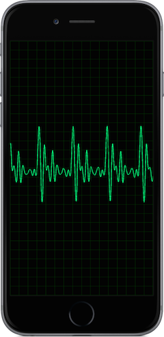 Audiospex oscilloscope app iPhone 6 image