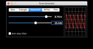 Tone Generator app macOS screenshot