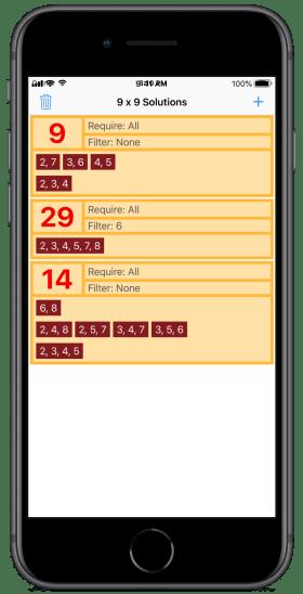 Sandwich Sudoku Helper app iPhone8 screenshot
