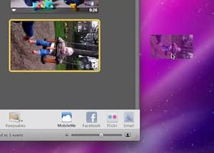 Drag the video from iPhoto onto the desktop