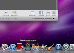 Drag the new video file from the desktop into Easy Movie Rotator