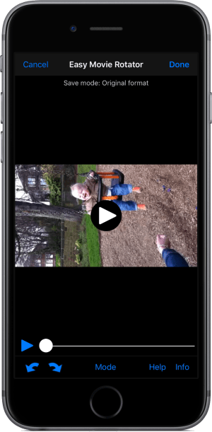 Easy Movie Rotator iOS Photos extension screenshot