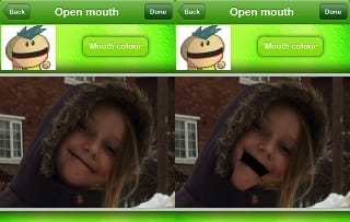 Open the mouth