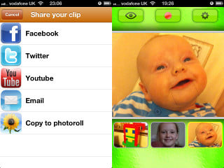 Extra share options and multiple photos with extra features installed