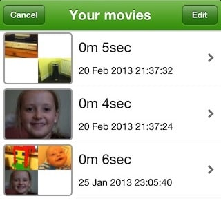 Movie list screen