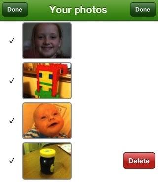 Photo list screen