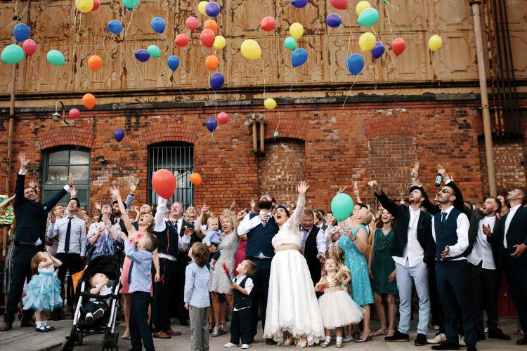 Hochzeit Familie und Freunden