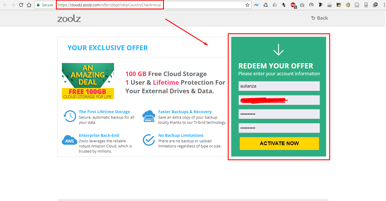 Screenshot 1 coahah - Gratis 100 GB Cloud Storage Untuk Backup dan Restore Data, Mau?