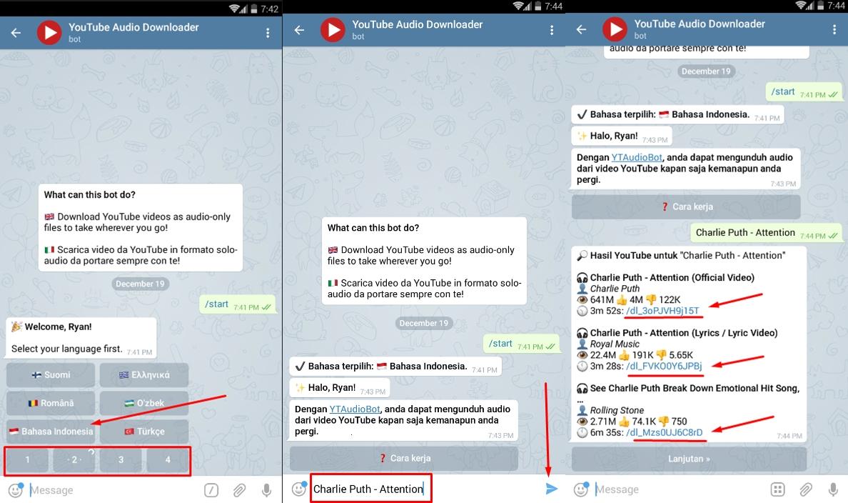 345 afrdj4 - Cara Mudah Download Lagu di YouTube Dengan Menggunakan Bot Telegram