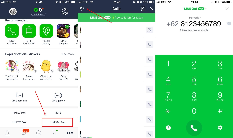 123 kuizx8 - Cara Gratis Telepon ke Semua Operator Dengan Line Out dari Aplikasi Line
