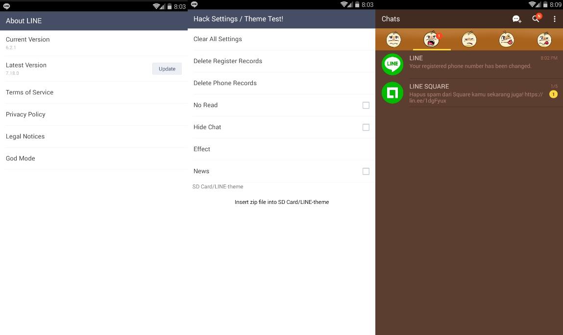 ss znjqxh - Line Mod Premium Versi 6.2.1 dengan Fitur God Mode dan Tema Gratis