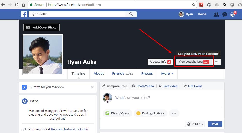 2 caf0ia - Malu Sama Status Alay Kamu di Facebook? Ini Dia Cara Mudah Menghapusnya