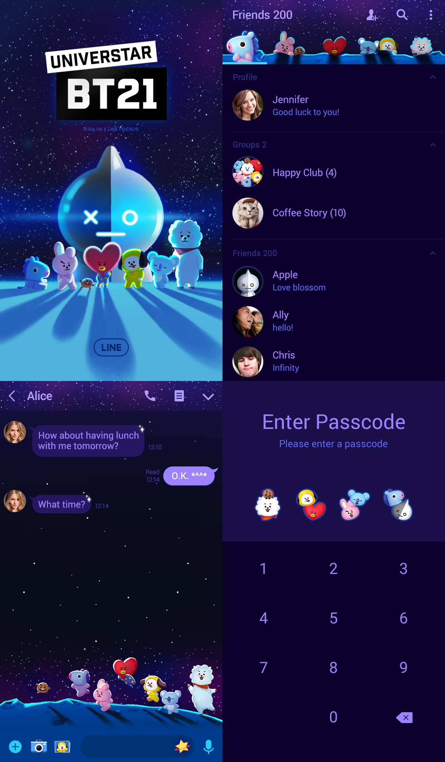 1 lttbpg - Download Tema Line : UNIVERSTAR BT21 A star is born